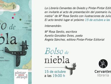 """Presentación de """"Bolso de niebla"""" de Mª Rosa Serdio"""