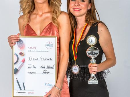 Gewinnerin der deutschen Make-Up Meisterschaft