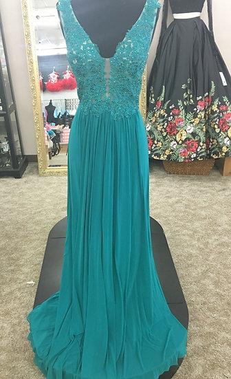 Sherri Hill 50255 Dark Turquoise