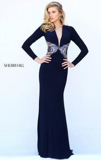 Sherri Hill 50651 Navy