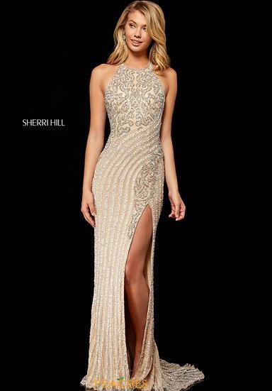 Sherri Hill 52368 Nude/Silver