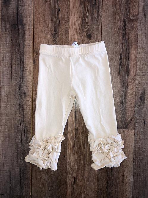 Evie's Closet Ruffle Leggings Ivory