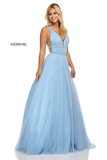 Sherri Hill 52640 Light Blue