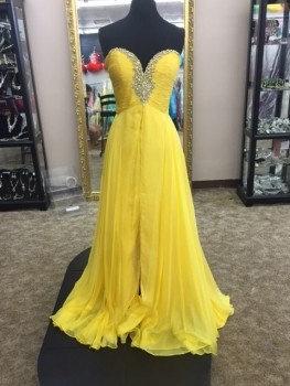 Mac Duggal 81265 Yellow