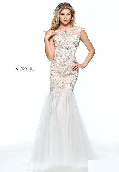 Sherri Hill 51046 Ivory/Nude