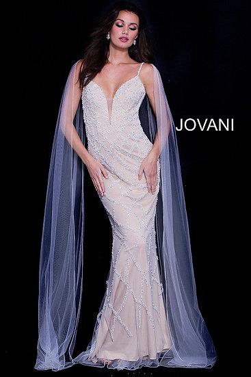 Jovani 59649A Off White/Nude