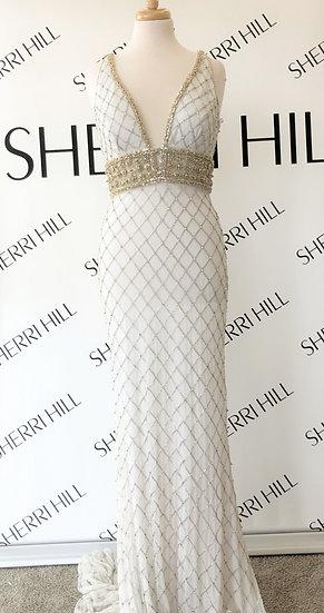 Sherri Hill 51788 Ivory/Gold/Silver