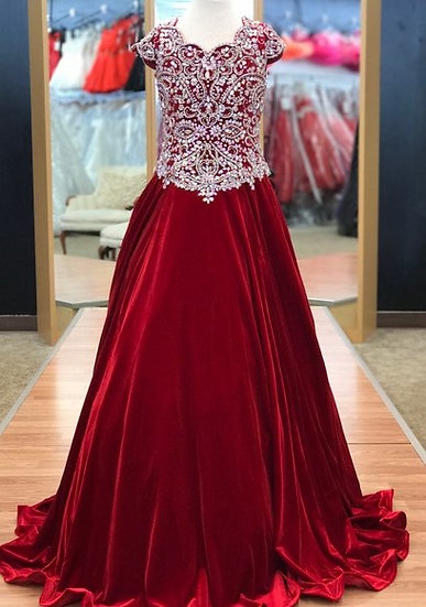 Unique Fashion UF3159F Red Velvet