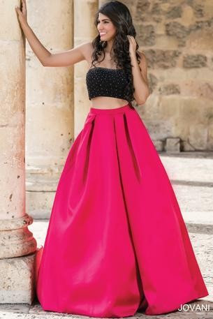 Jovani 22897 Black/Red