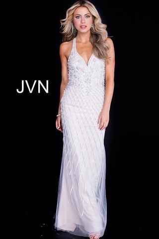 Jovani JVN54552A Silver/Nude