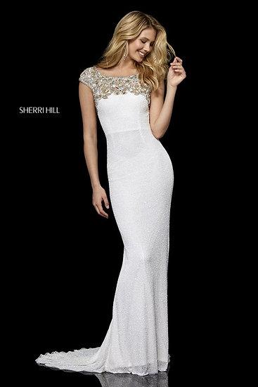 Sherri Hill 52308 Ivory/Gold
