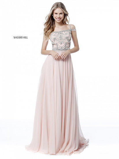 Sherri Hill 51658 Blush