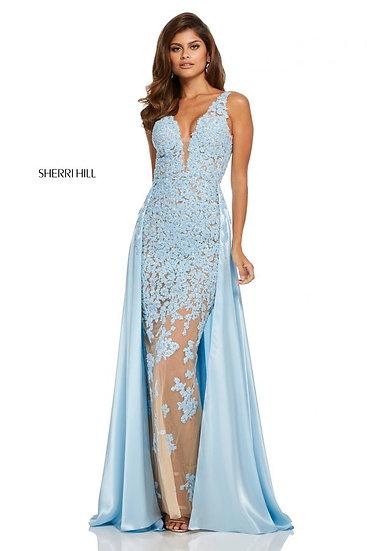 Sherri Hill 52599 Nude/Light Blue