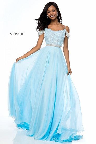 Sherri Hill 51970 Light Blue