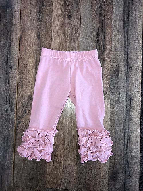 Evie's Closet Ruffle Leggings Blush