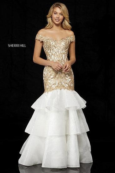 Sherri Hill 52347 Ivory/Gold