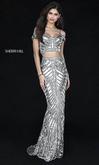 Sherri Hill 51934 Silver