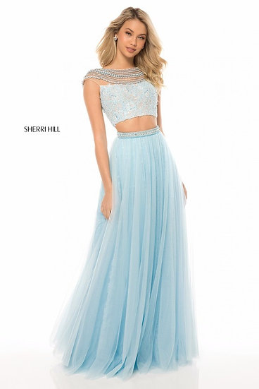 Sherri Hill 51973 Light Blue