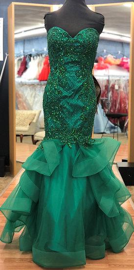Jovani 22623A Emerald/Nude