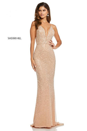 Sherri Hill 52689 Nude