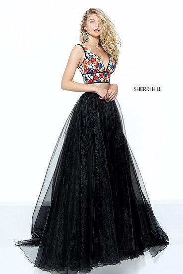 Sherri Hill 50948 Black/Multi