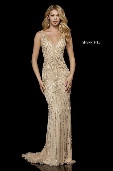 Sherri Hill 52324 Nude/Gold
