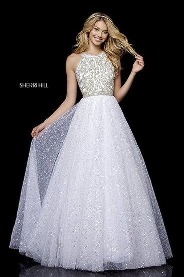 Sherri Hill 52277 Ivory/Silver