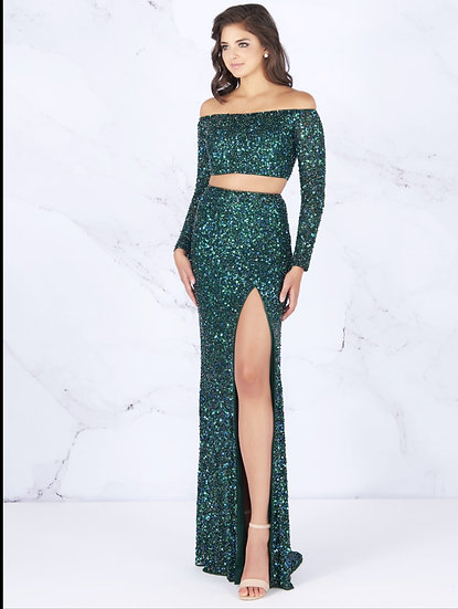 Mac Duggal 4831A Deep Emerald