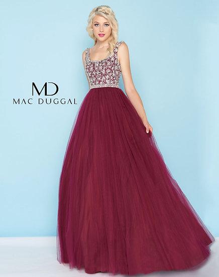 Mac Duggal 66332 Burgundy