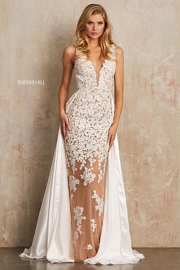 Sherri Hill 52599 Nude/Ivory