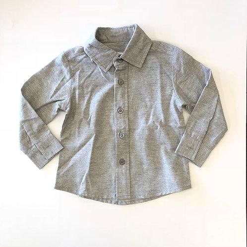 Evie's Closet Boys Button Up Gray