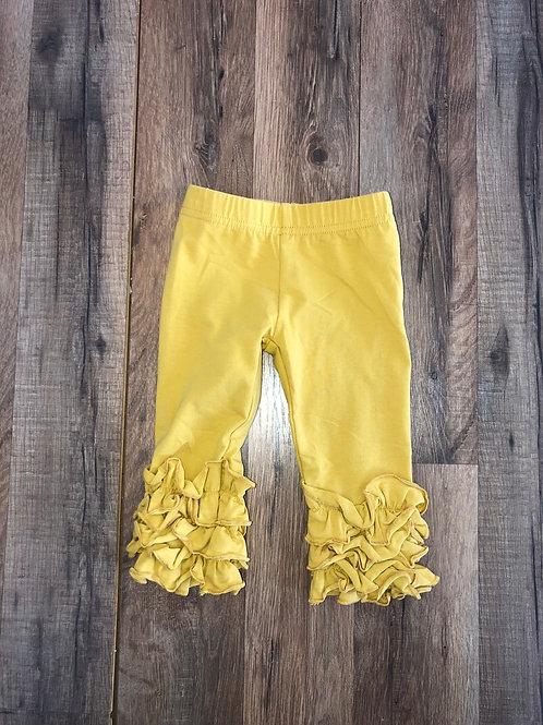Evie's Closet Ruffle Leggings Mustard