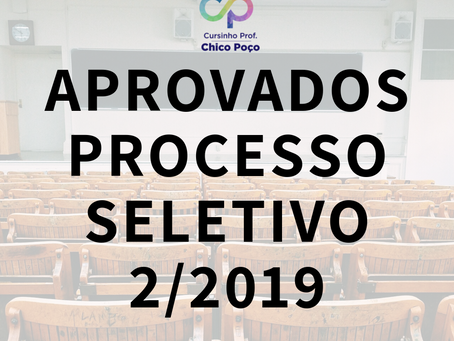 Aprovados processo seletivo 2/2019