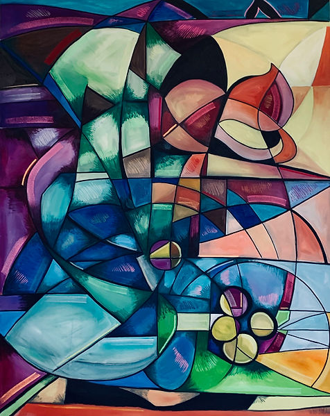 abstract art. max hembrow, max hembrow art, maximillian hembrow, painting, original painting, cubism, contemporary art, contemporary painting, large artwork, large canvas painting