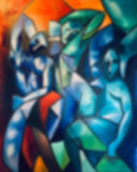 max hembrow, max hembrow art, Maximillian Hembrow, Maximillian Hembrow paintings, cubist paintings, oil cubist paintings, original art