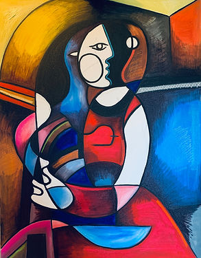 Max Hembrow, Max Hembrow Art, Maximillian Hembrow, Maximillian Hembrow Paintings, Hembrow Paintings, Cubist Artwork, cubism, Contemporary Painting, Oil Painting, Colourful Art