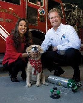 Fire Dept. Receives Oxygen Masks for Pets