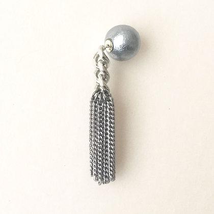 3 Links Chain Fringe Pierced Earring (one side)