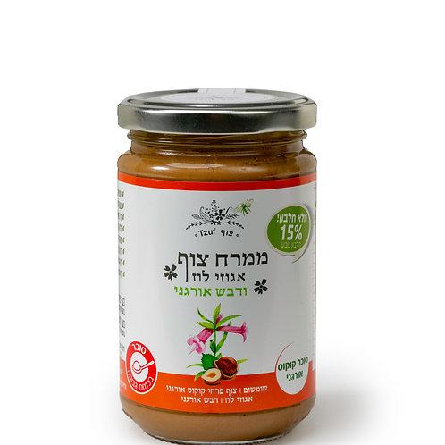 ממרח צוף אגוזי לוז עם דבש אורגני