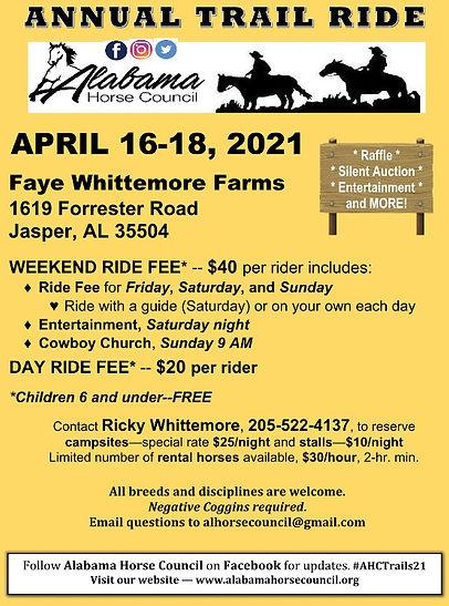 Alabama Trail Ride 2021