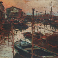 1895. - 1896. Dusk in Chioggia