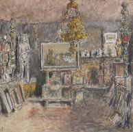1938. L'Interno dell'Atelier con la Statua di Eva