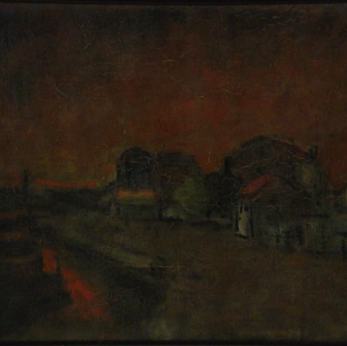 1921. A Harbour at Dusk