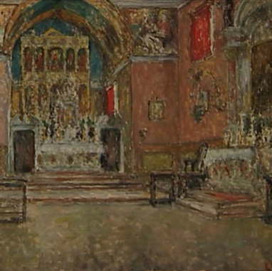 1940. Interior of the Church in Poljud