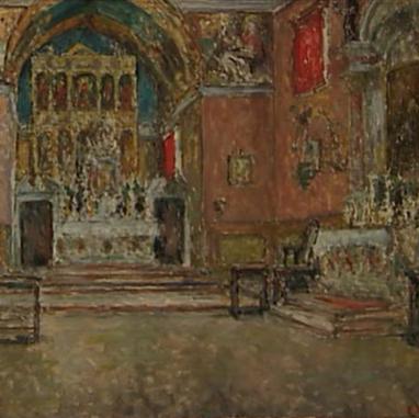 1940. Unutrašnjost crkve u Poljudu