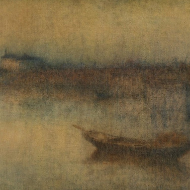 1902. - 1904. A harbour in fog