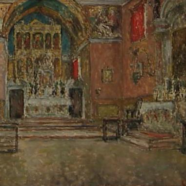 1940. Unutrašnjost crkve u Poljudu III