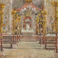 1940. L'Interno della Chiesa di Santa Croce