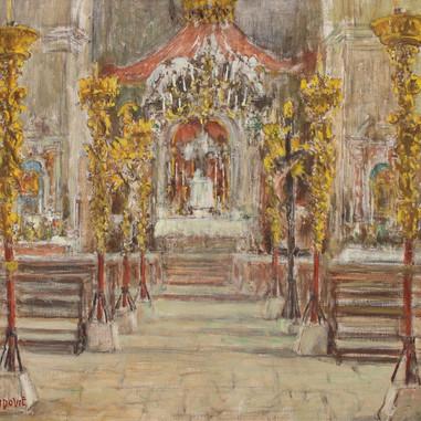 1940. Unutrašnjost Sv. Križa