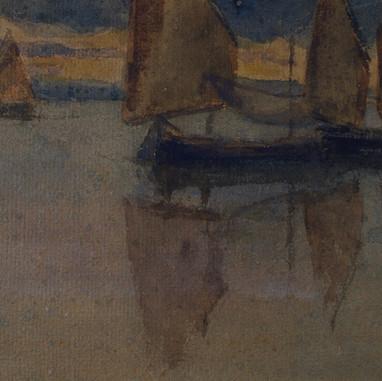1908. Sailing boats